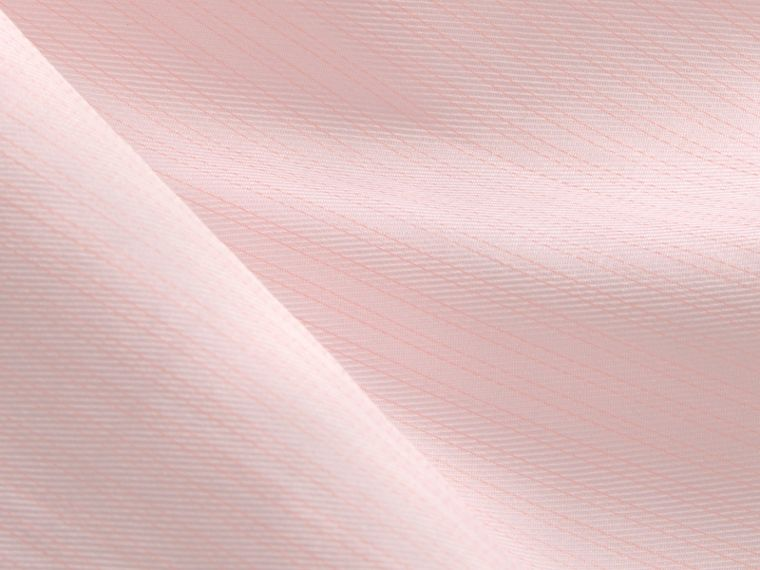 Slim Fit Striped Cotton Poplin Shirt City Pink - cell image 1