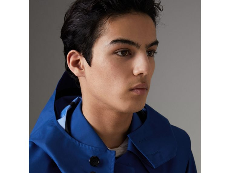Detachable Hood Showerproof Car Coat in Bright Navy - Men | Burberry Singapore - cell image 1