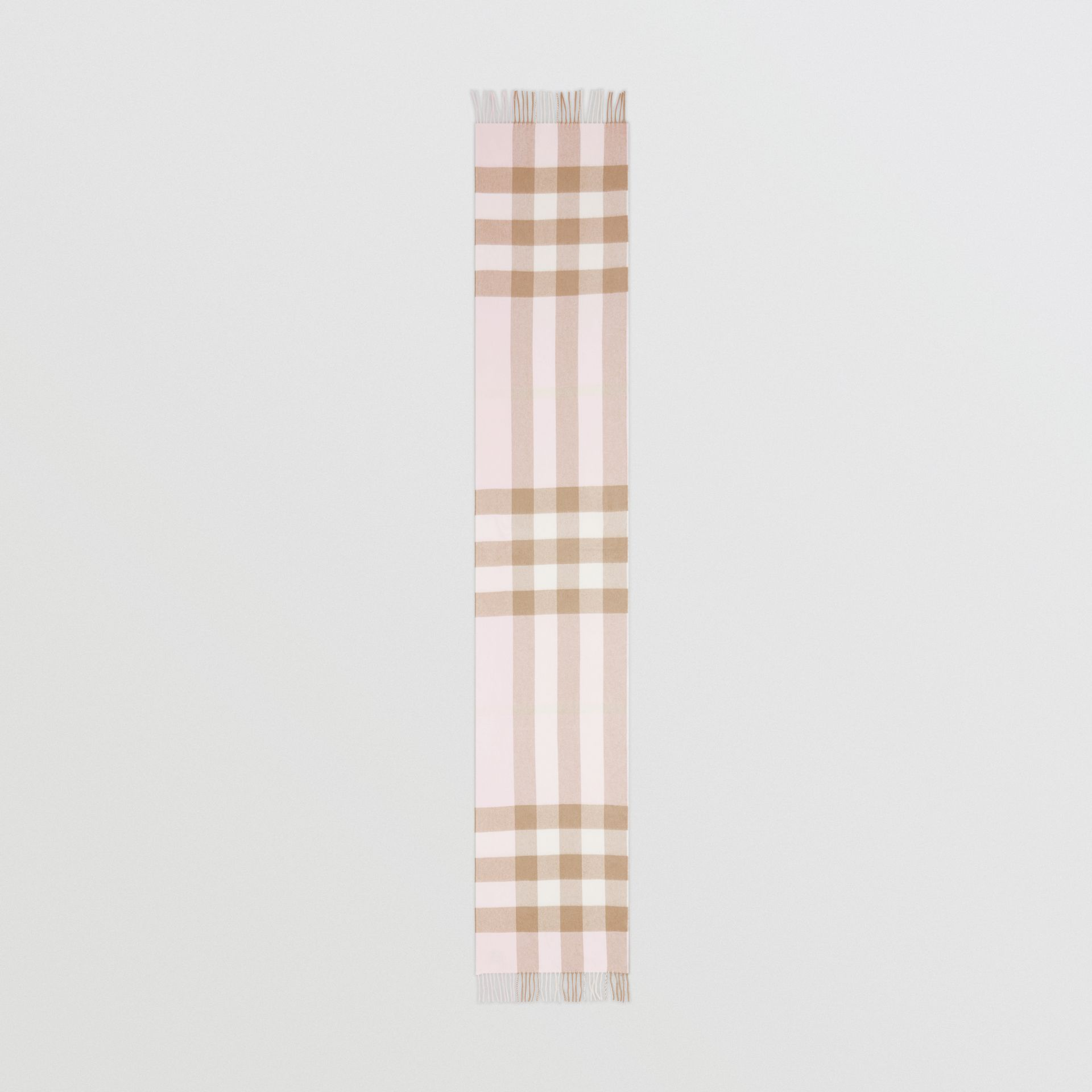 Check Cashmere Scarf in Alabaster Pink | Burberry - gallery image 5