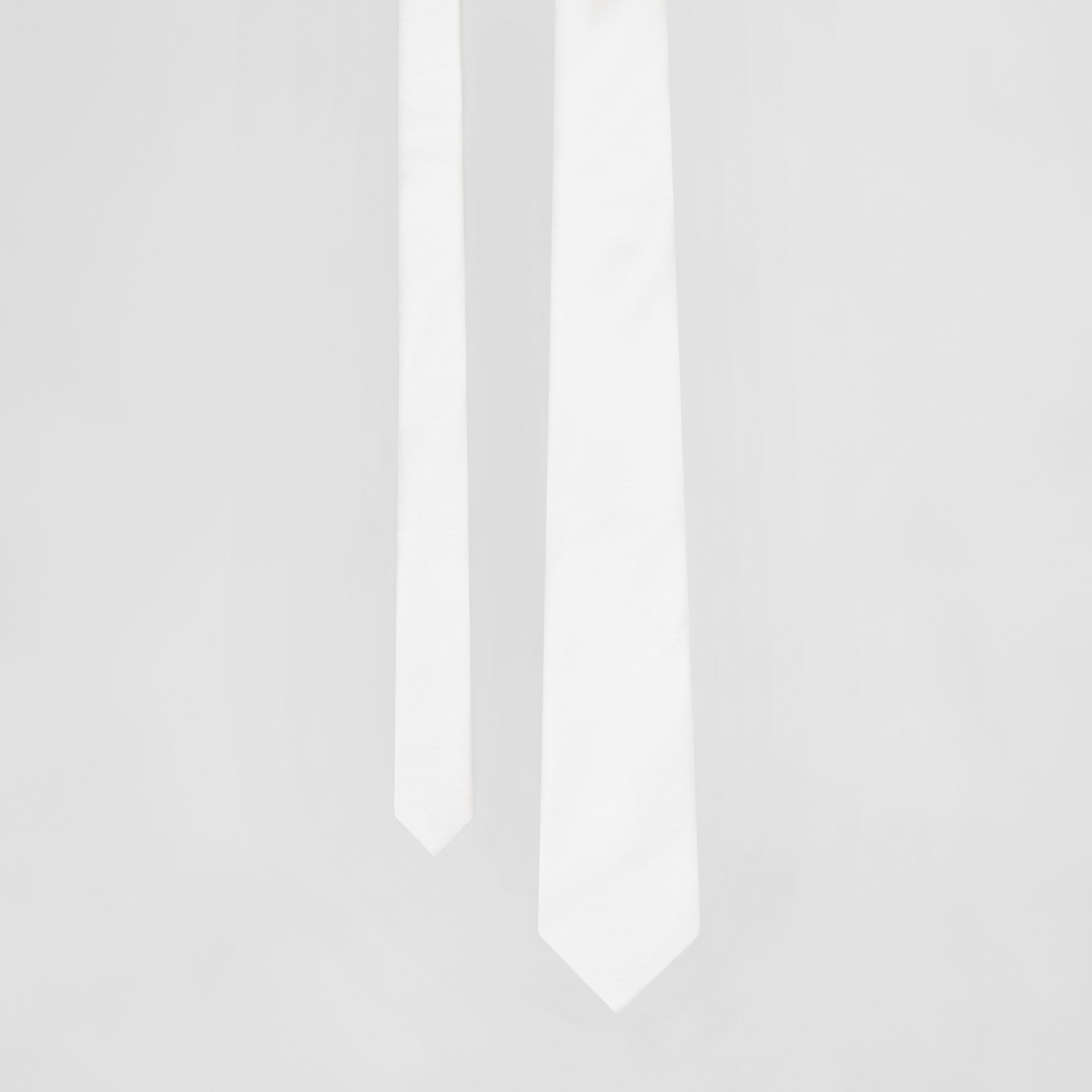 Classic Cut Silk Tie in Natural White - Men | Burberry - gallery image 0