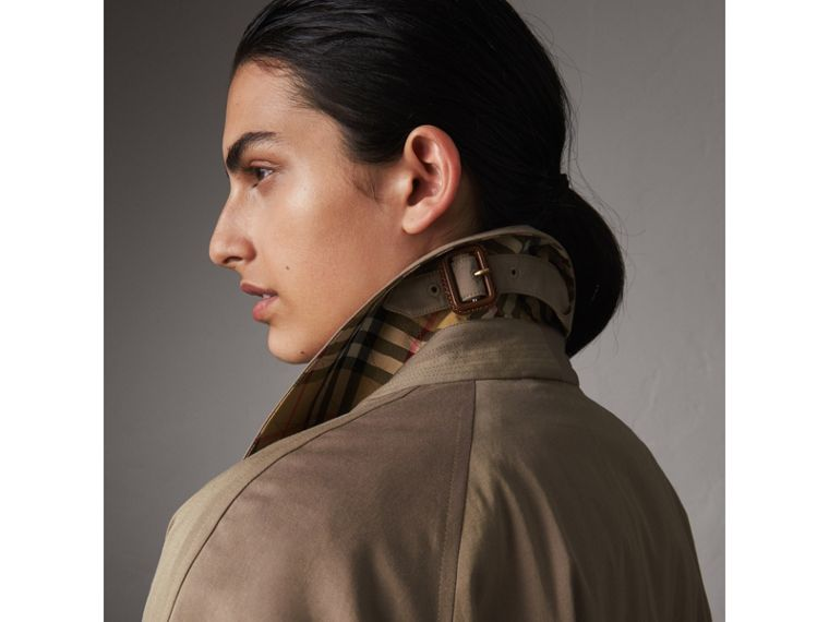The Brighton – Extra-long Car Coat in Taupe Brown - Women | Burberry Australia - cell image 1