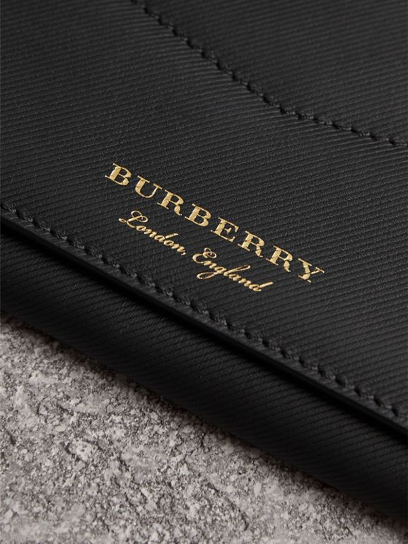 Trench Leather Envelope Wallet in Black - Women | Burberry - cell image 1