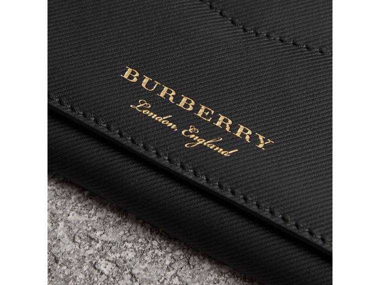 Trench Leather Envelope Wallet in Black - Women | Burberry Singapore - cell image 1
