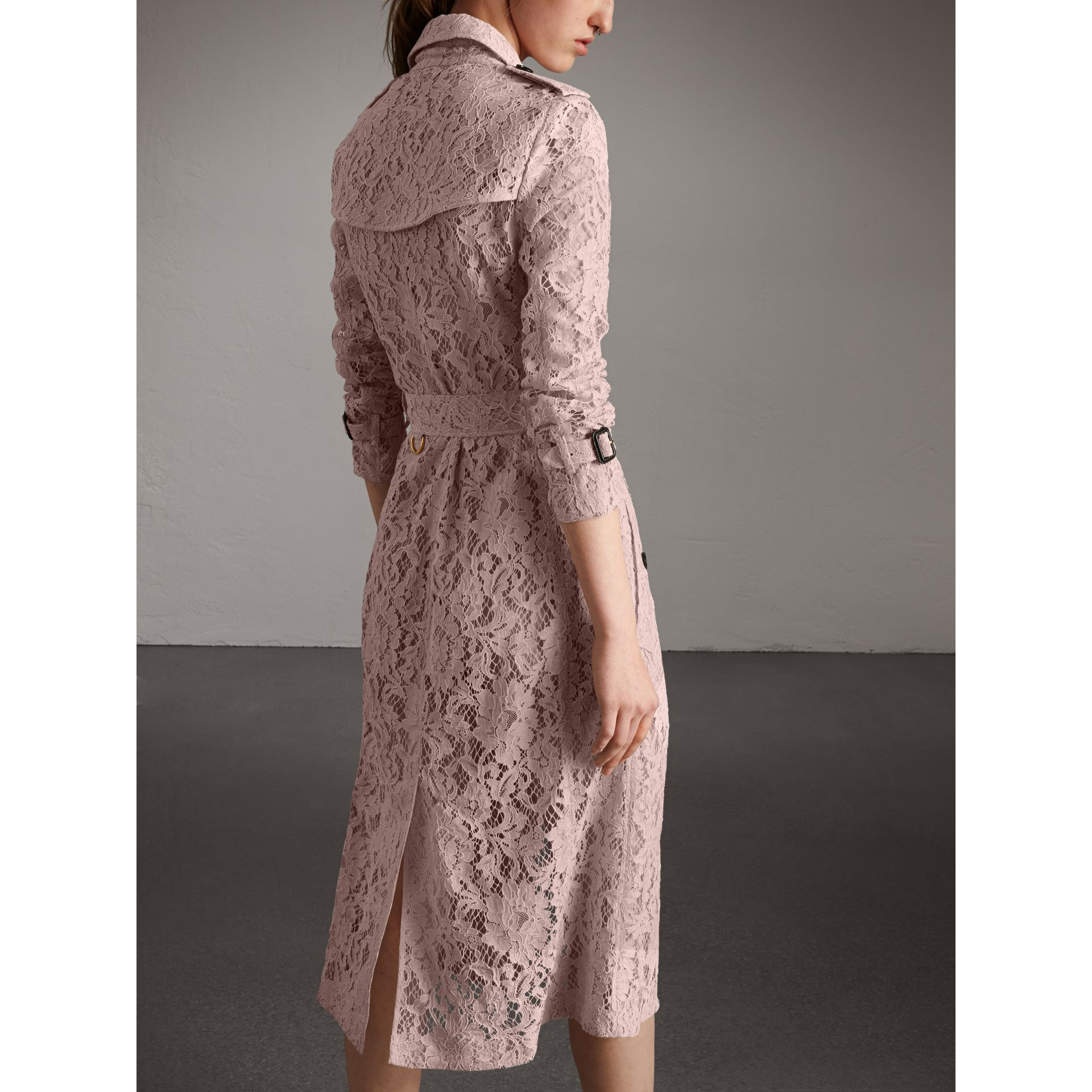 Macramé Lace Wrap Trench Coat in Nude - Women | Burberry United States - gallery image 2