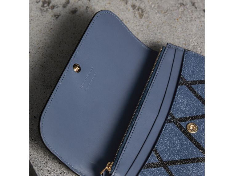 Trompe L'oeil Print Leather Continental Wallet in Steel Blue - Women | Burberry - cell image 4