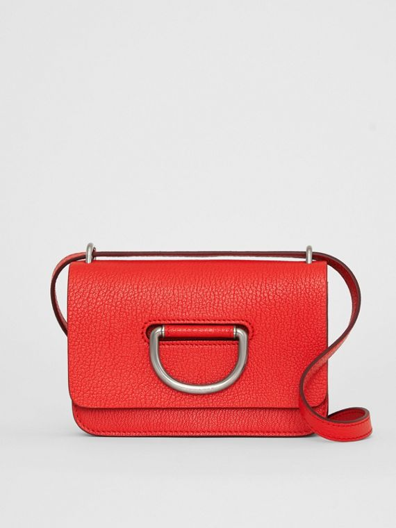 The Mini Leather D-ring Bag in Bright Red