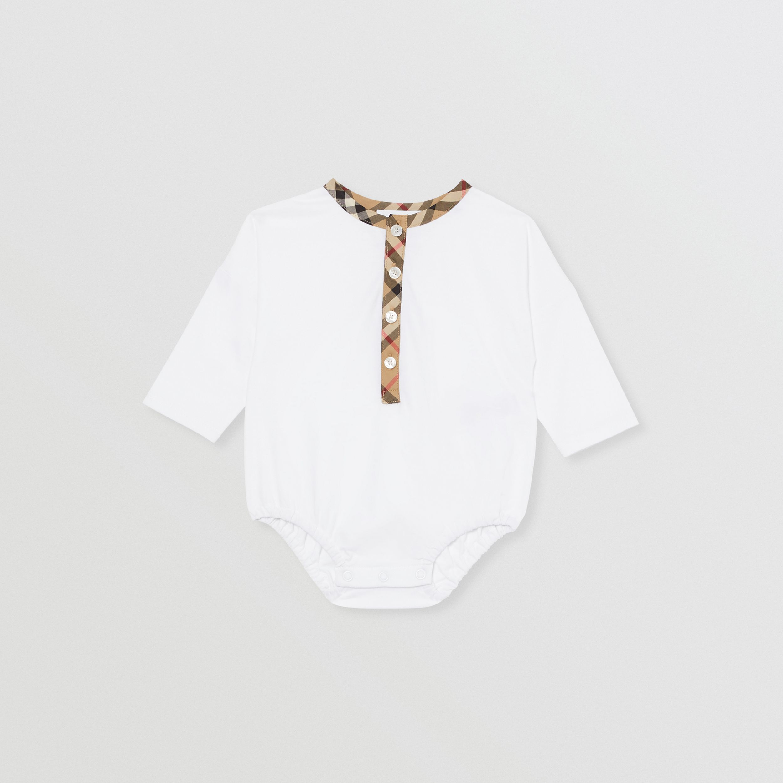 Vintage Check Cotton Two-piece Baby Gift Set in White - Children | Burberry - 4