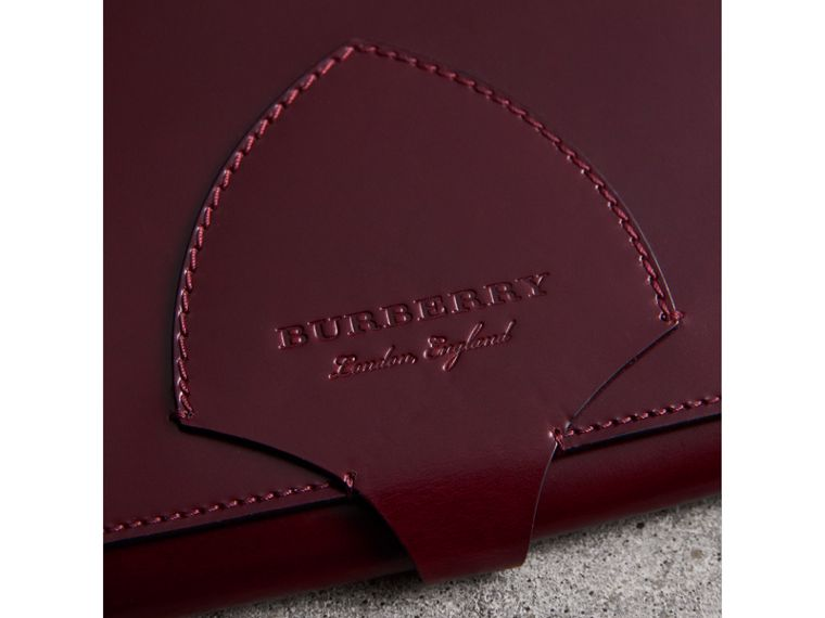 Equestrian Shield Leather A4 Document Case in Deep Claret | Burberry - cell image 1