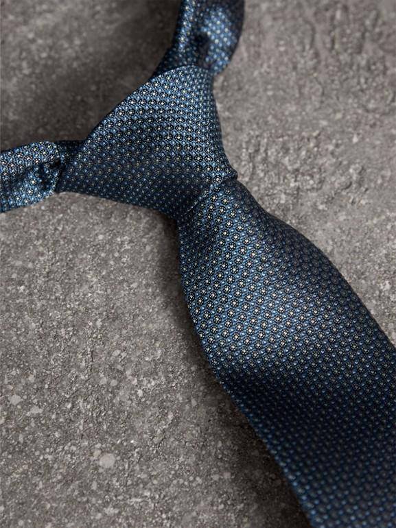 Modern Cut Patterned Silk Tie in Light Blue - Men | Burberry United Kingdom - cell image 1