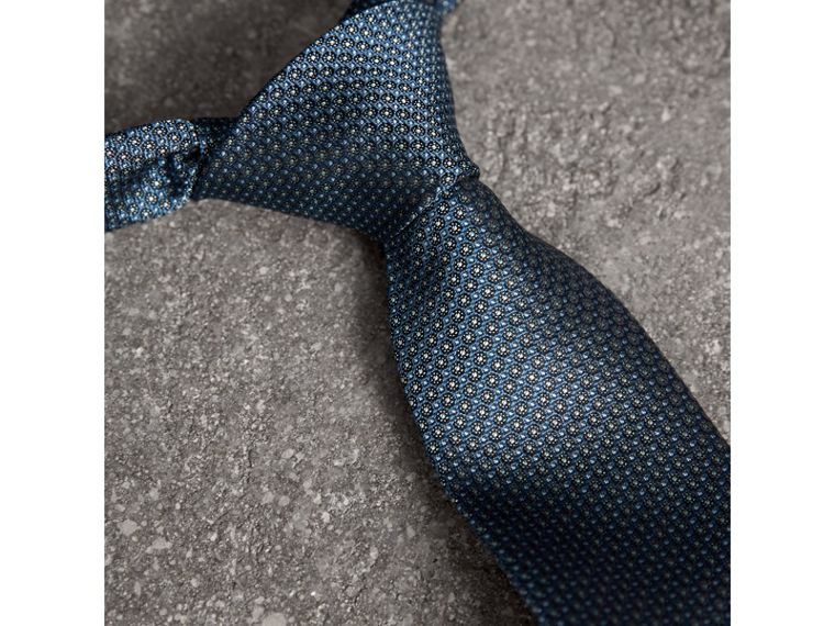 Modern Cut Patterned Silk Tie in Light Blue - Men | Burberry United Kingdom - cell image 1