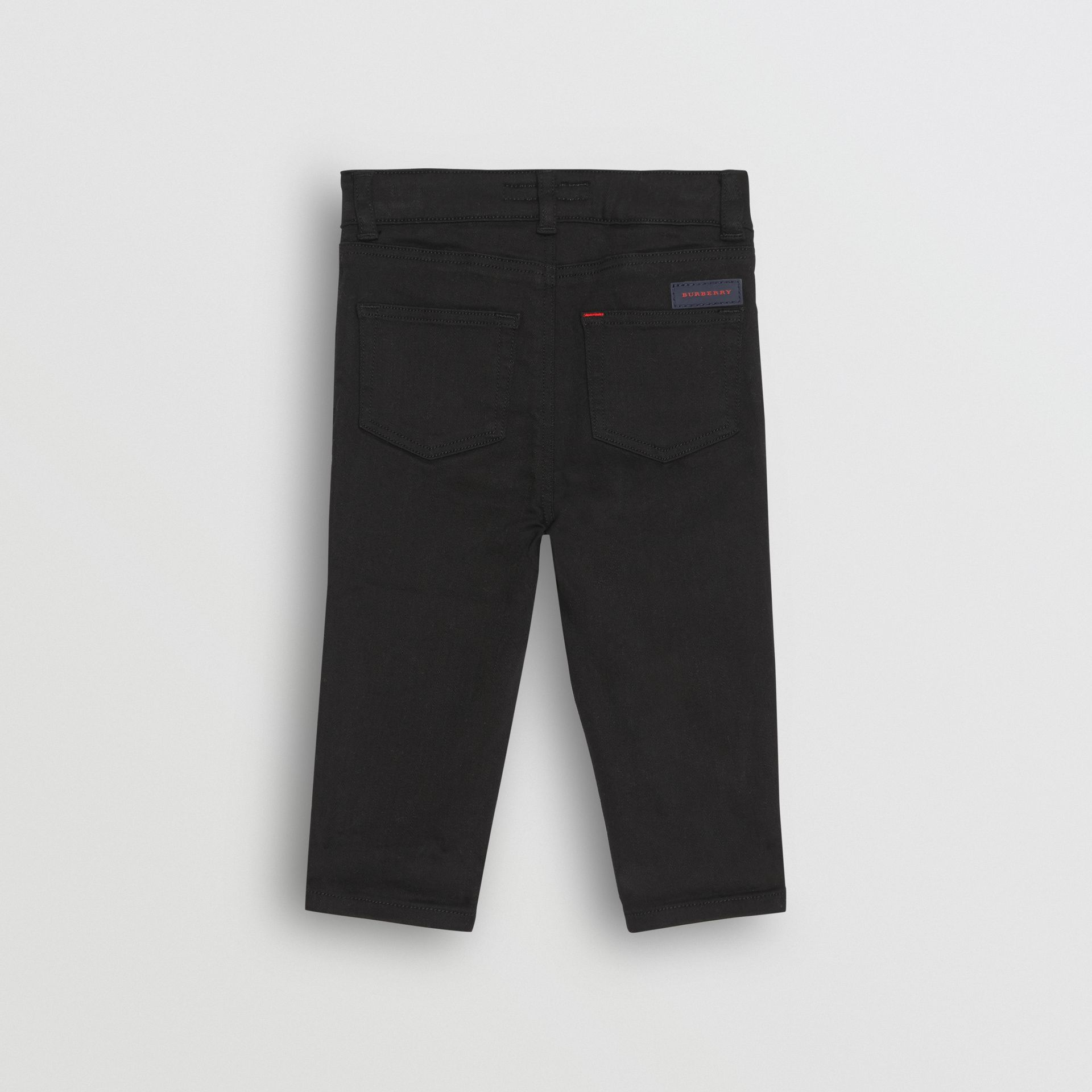 Skinny Fit Stretch Denim Jeans in Black - Children | Burberry - gallery image 3