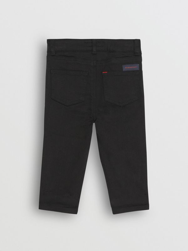 Skinny Fit Stretch Denim Jeans in Black - Children | Burberry - cell image 3