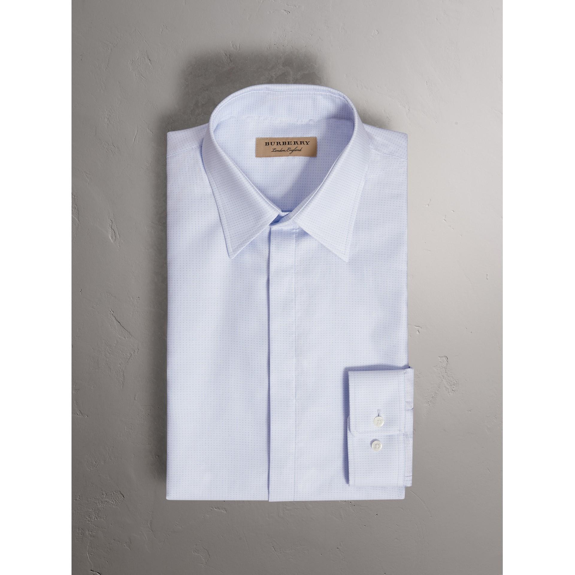 Рубашка современного фасона из хлопка «добби» (Светло-голубой) - Для мужчин | Burberry - изображение 4