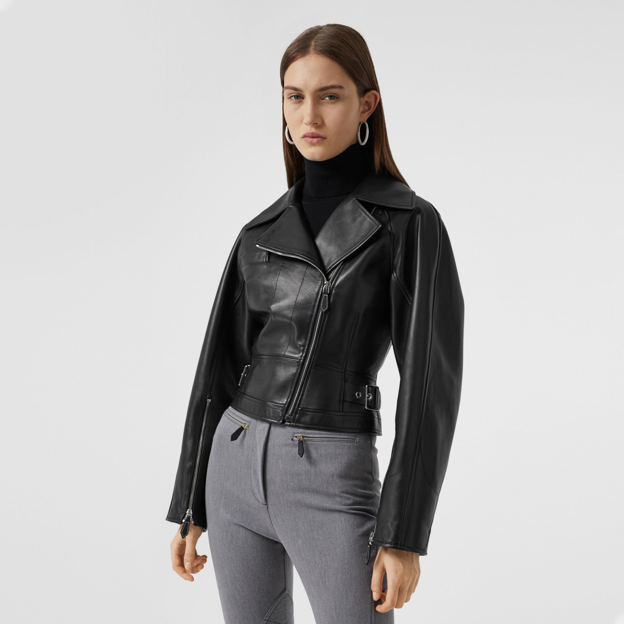 Lambskin Biker Jacket - Women | Burberry - 1