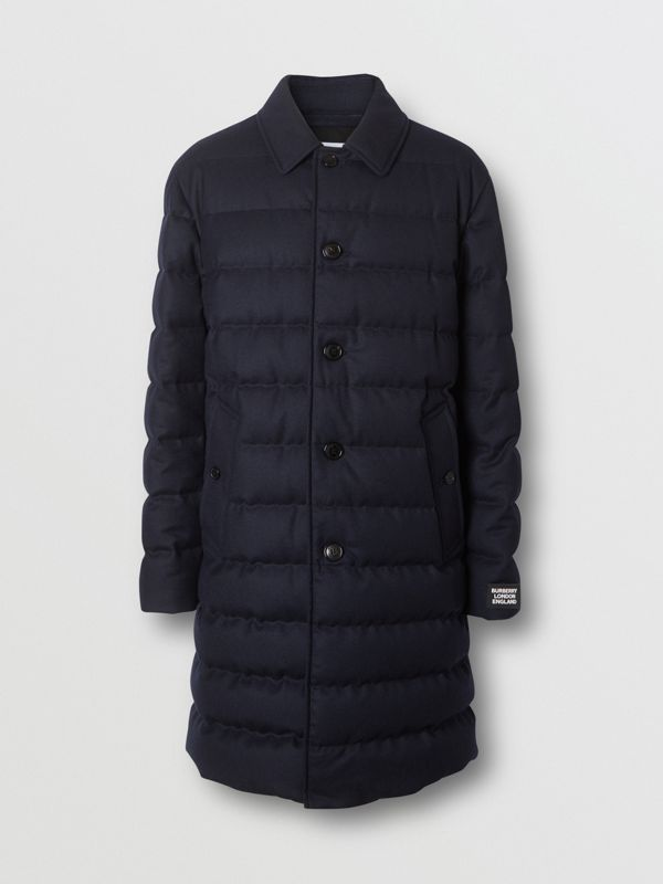 Car coat in lana con imbottitura (Navy) - Uomo | Burberry - cell image 3