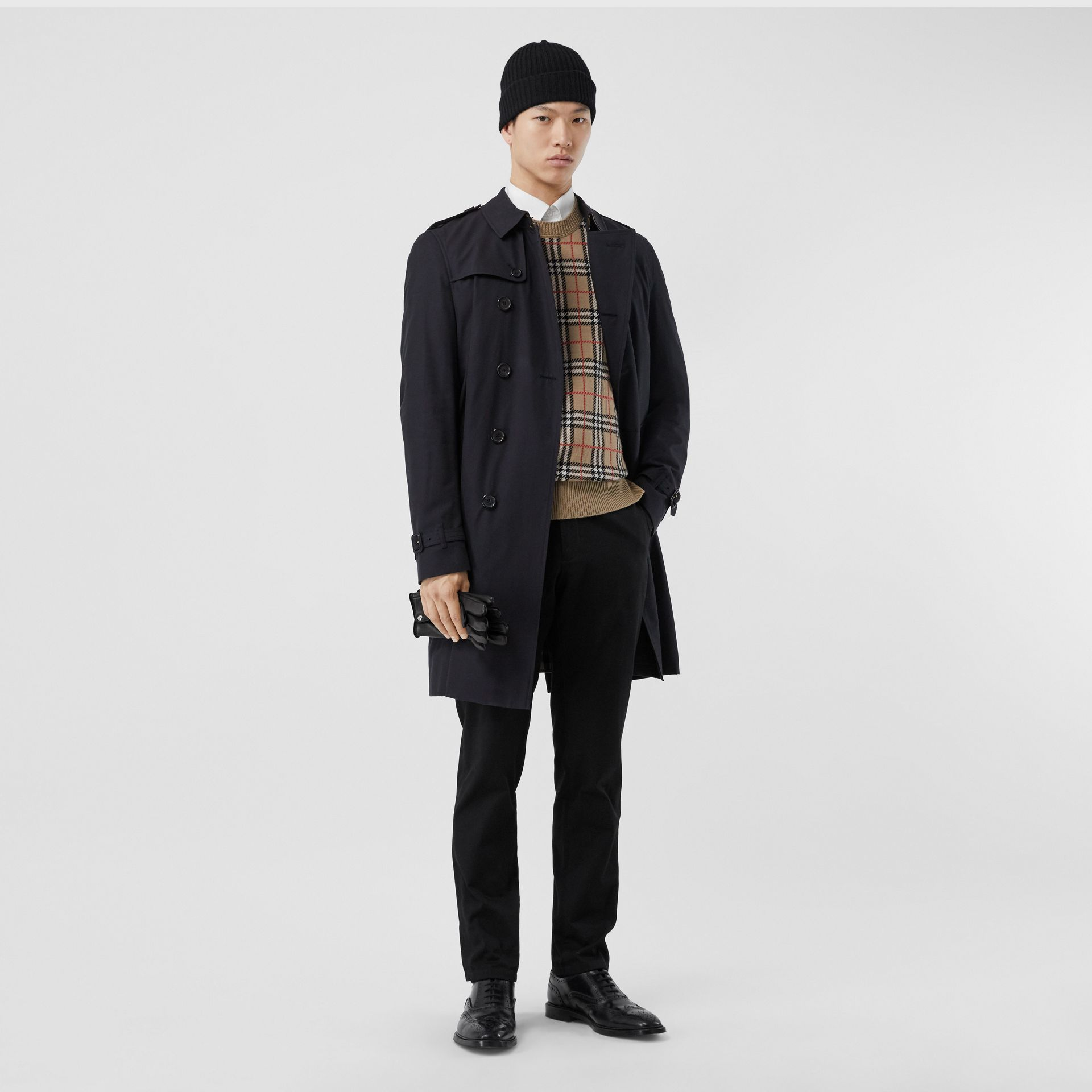 The Chelsea – Long Trench Coat in Navy - Men | Burberry Canada - gallery image 0