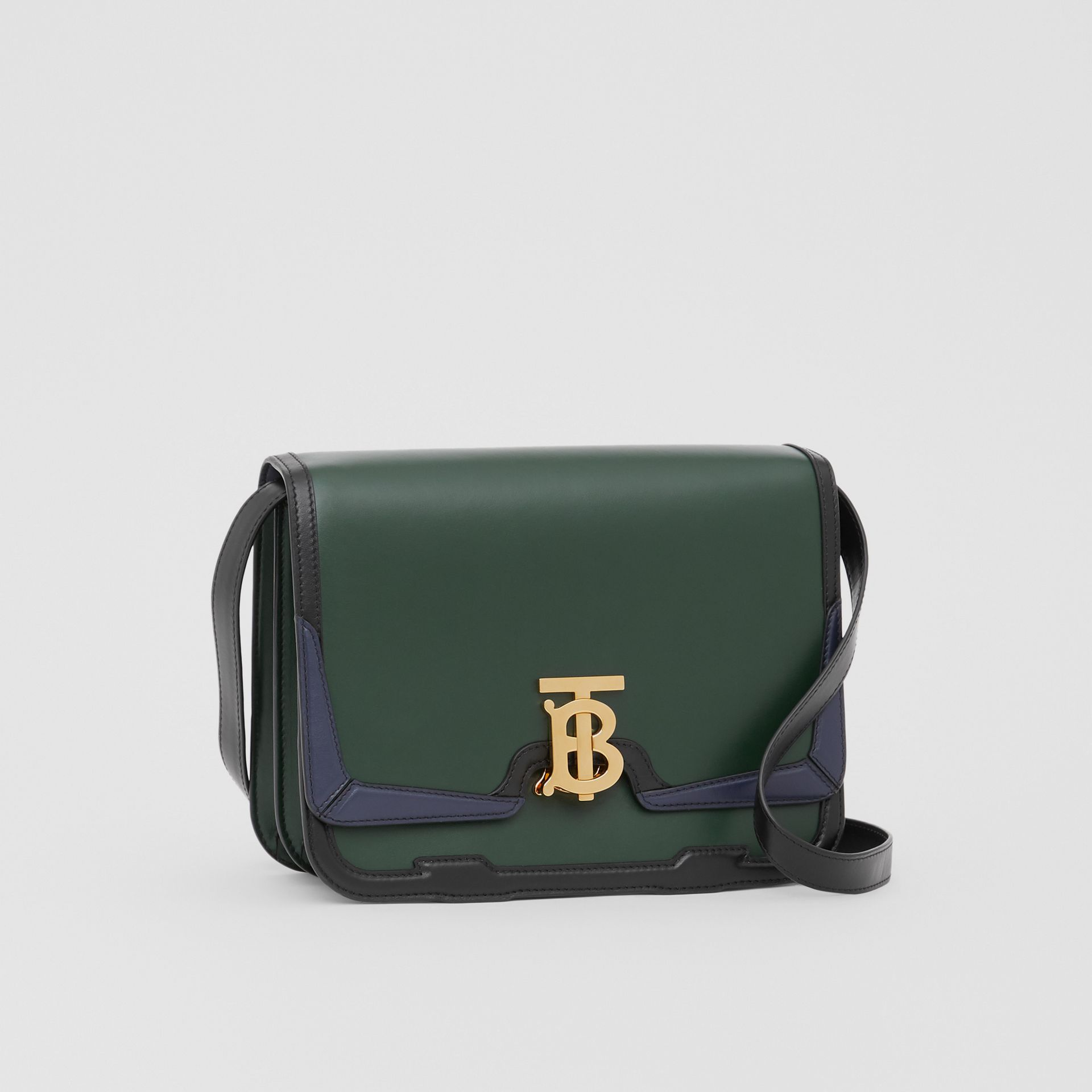 Medium Appliqué Leather TB Bag in Dark Pine Green - Women | Burberry United Kingdom - gallery image 4
