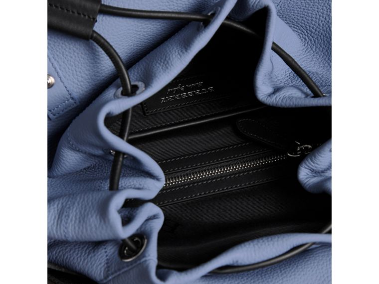 The Large Rucksack in Deerskin with Beasts Motif in Slate Blue - Women | Burberry - cell image 4