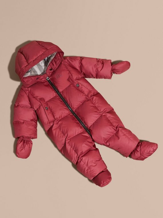 Down-filled Puffer Suit in Peony Rose