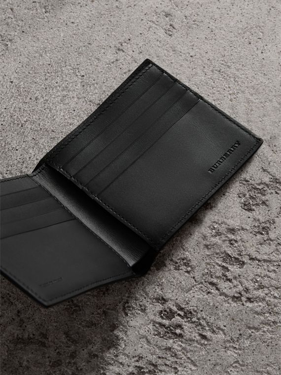 London Leather International Bifold Wallet in Black | Burberry United Kingdom - cell image 3