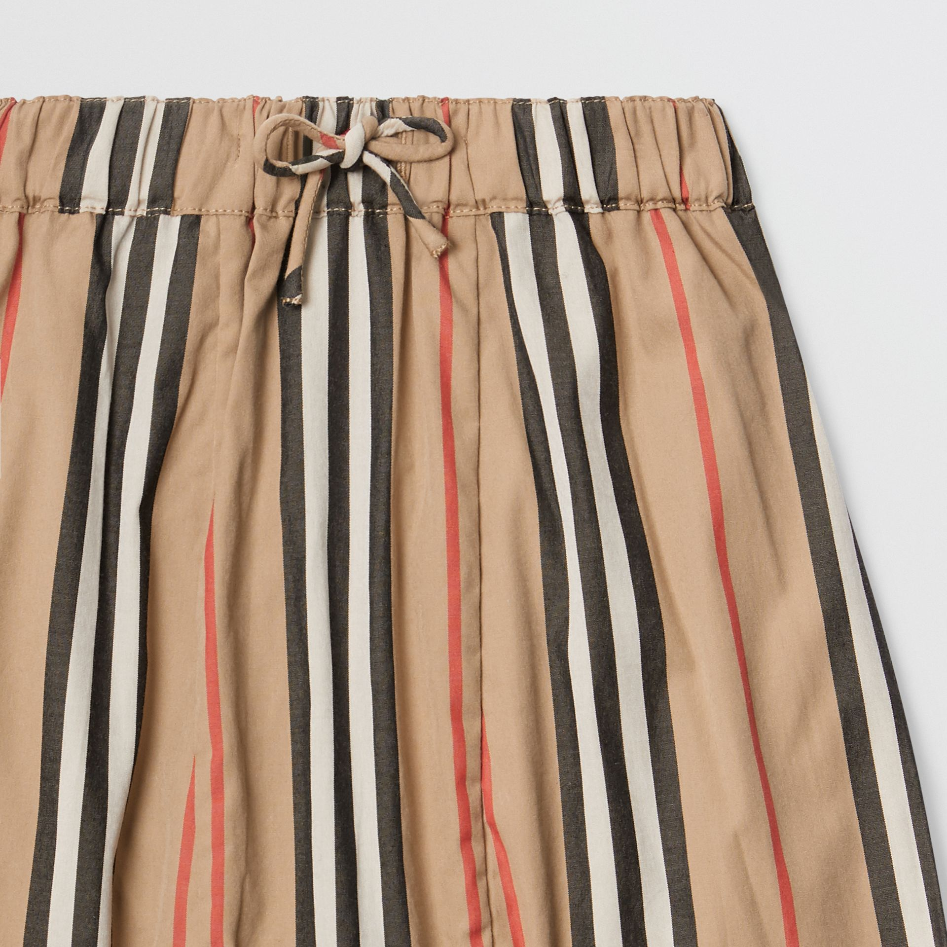 Icon Stripe Cotton Poplin Trousers in Archive Beige - Children | Burberry - gallery image 4