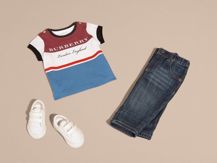 Multi Stripe Cotton T-shirt - cell image 4