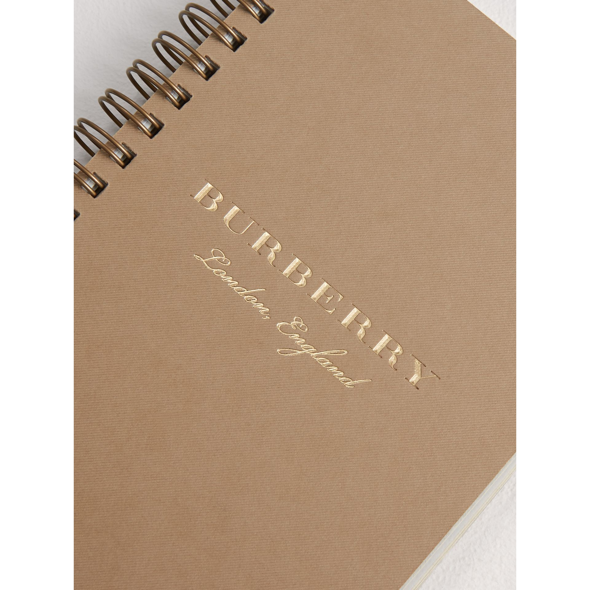 A6 Notebook Refill in Honey | Burberry Singapore - gallery image 1