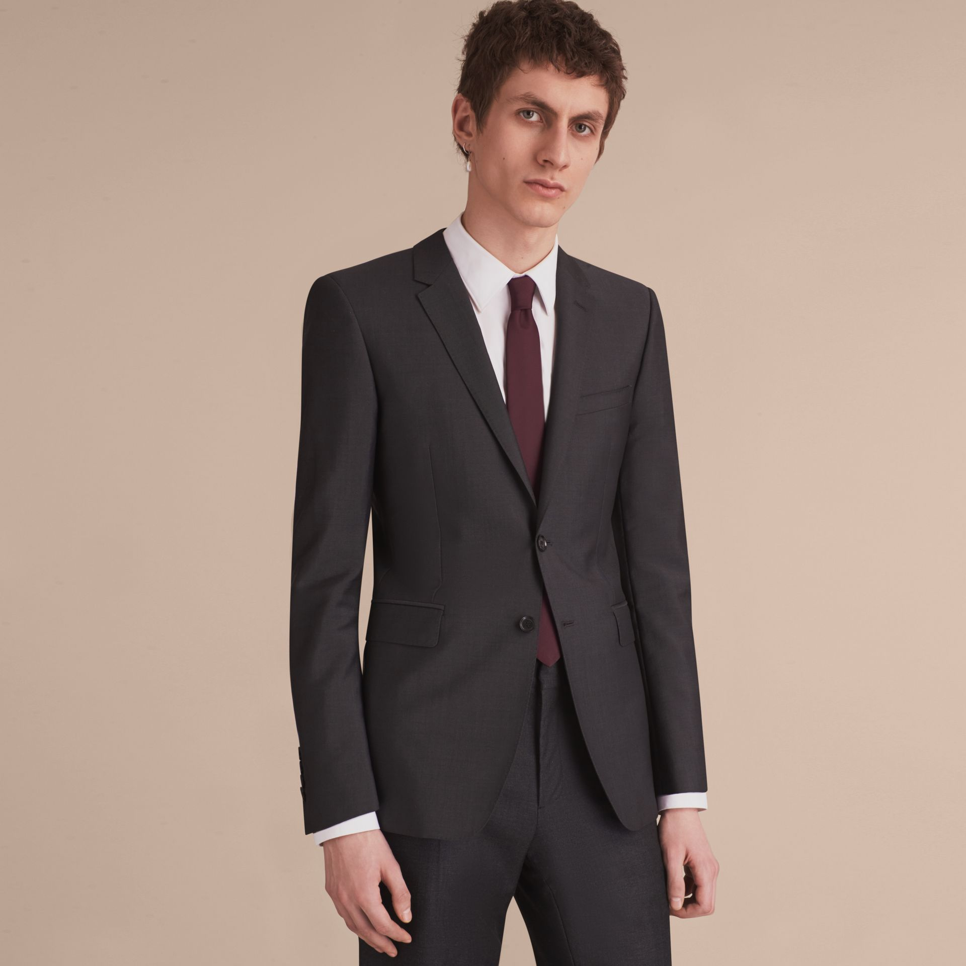 Узкий галстук из шелкового твила (Темный Кларет) - Для мужчин | Burberry - изображение 2