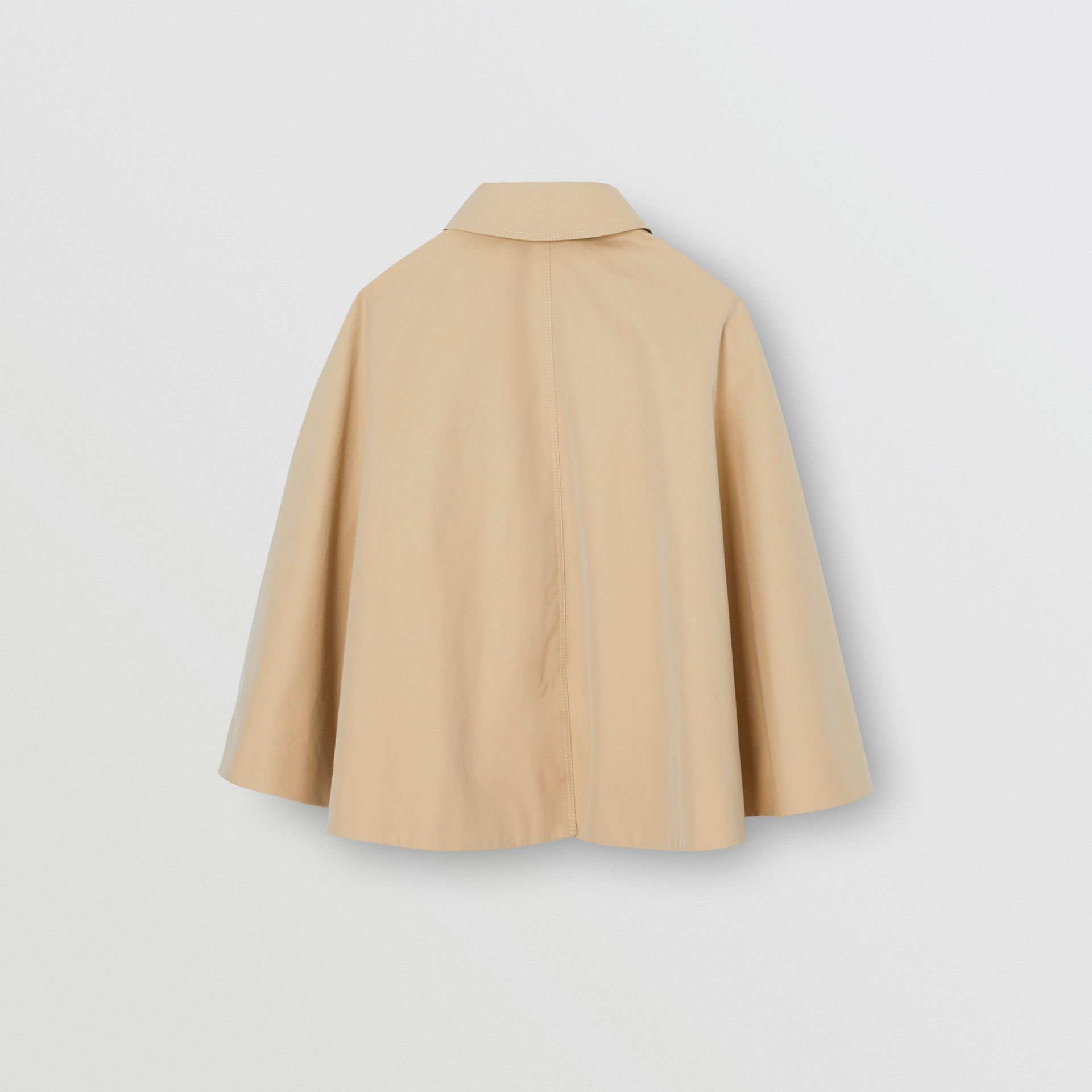 Cotton Gabardine Trench Cape in Honey | Burberry - gallery image 3