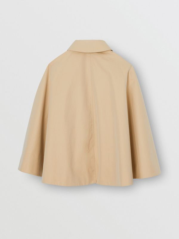 Mantella trench in gabardine di cotone (Miele) | Burberry - cell image 3