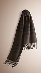 Écharpe classique en cachemire à motif check Heritage