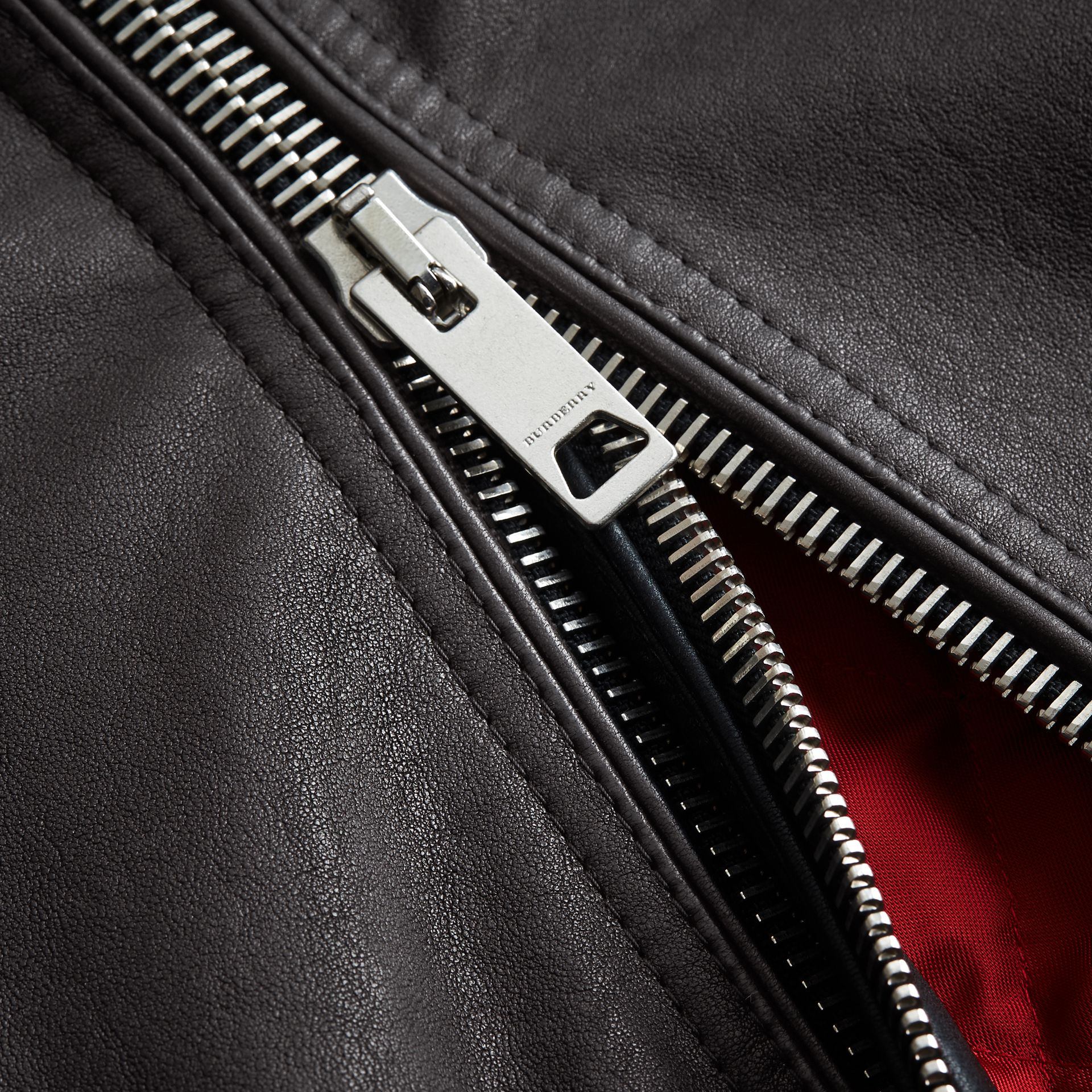 Panel Detail Lambskin Jacket in Black - Men | Burberry - gallery image 2