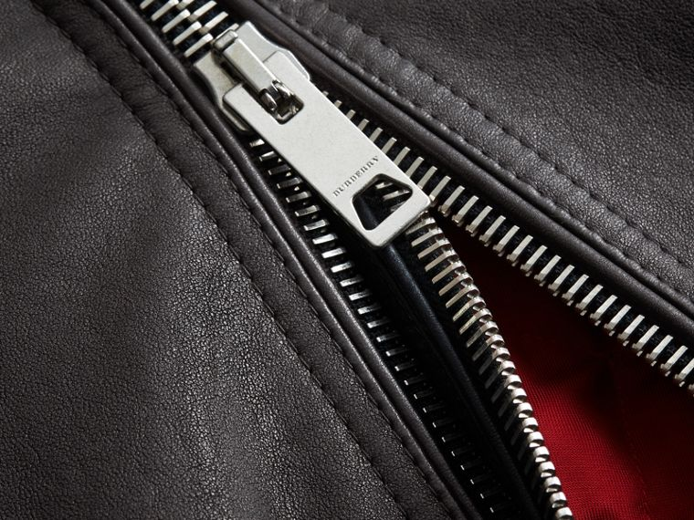 Panel Detail Lambskin Jacket - Men | Burberry - cell image 1