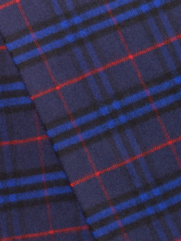 The Classic Vintage Check Cashmere Scarf in Bright Navy | Burberry - cell image 1