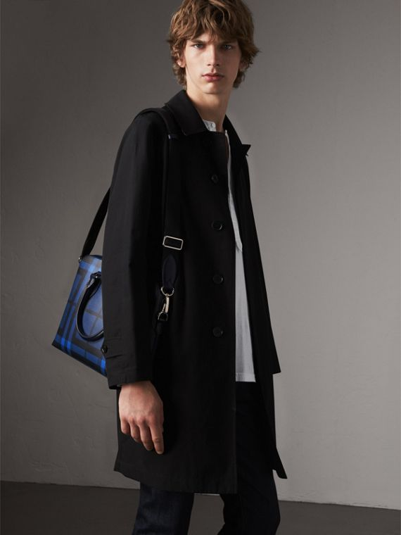 The Slim Barrow in London Check in Bright Lapis - Men | Burberry Australia - cell image 3