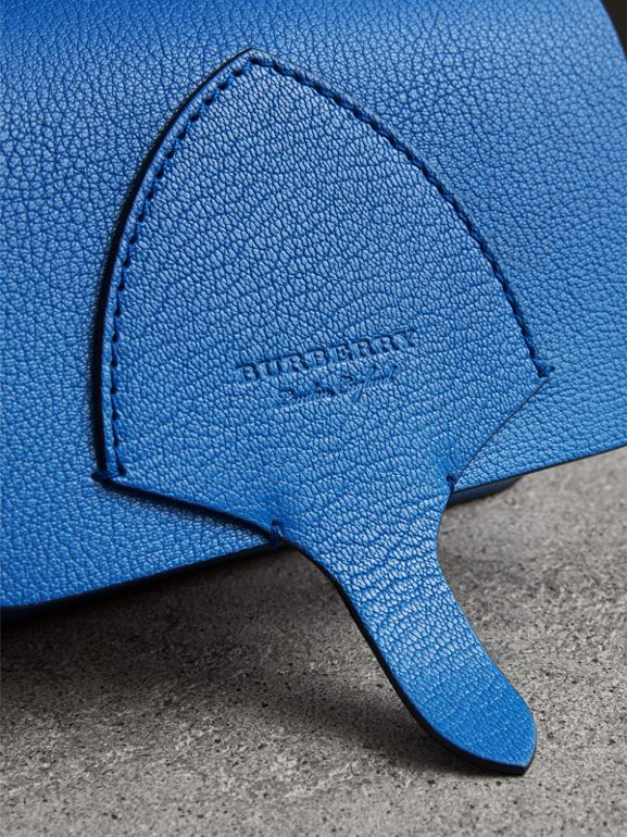 Equestrian Shield Leather Wallet with Detachable Strap in Hydrangea Blue - Women | Burberry - cell image 1