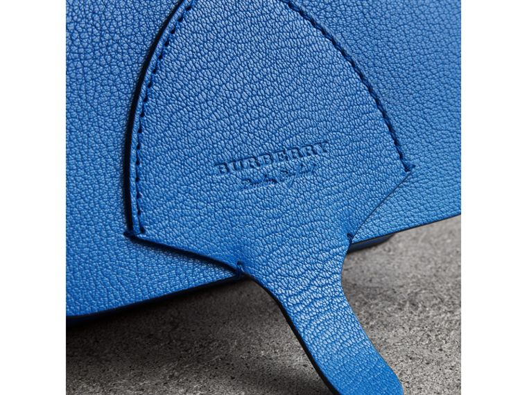 Equestrian Shield Leather Wallet with Detachable Strap in Hydrangea Blue - Women | Burberry Australia - cell image 1