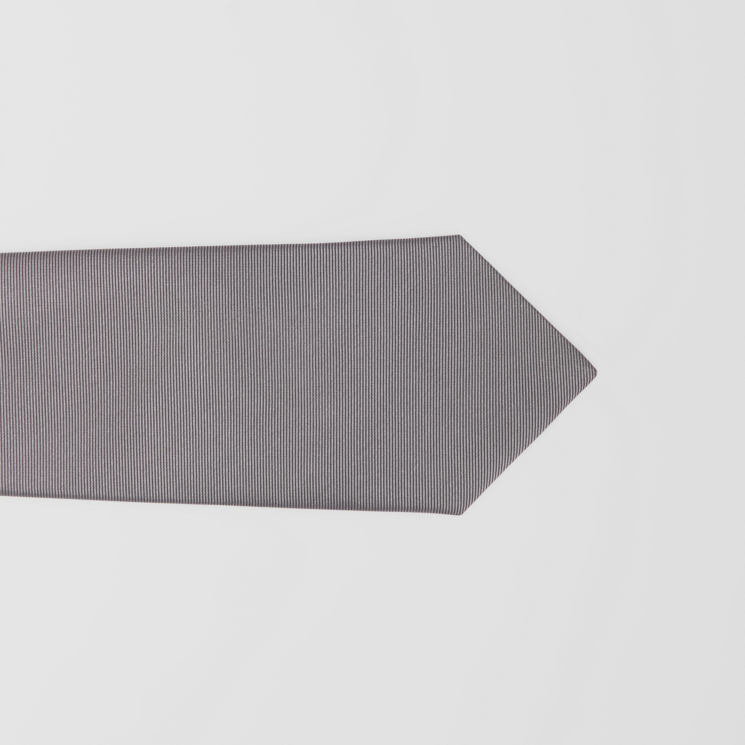 Classic Cut Check Silk Jacquard Tie in Storm Grey - Men | Burberry - 2