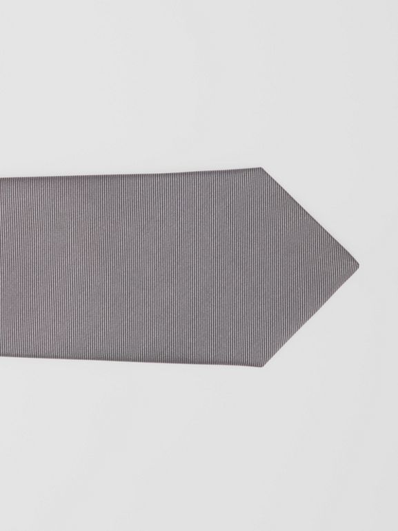 Classic Cut Check Silk Jacquard Tie in Storm Grey - Men | Burberry Hong Kong S.A.R - cell image 1