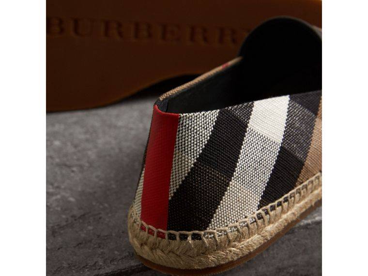 Check Cotton Canvas Seam-sealed Espadrilles in Classic - Men | Burberry - cell image 1
