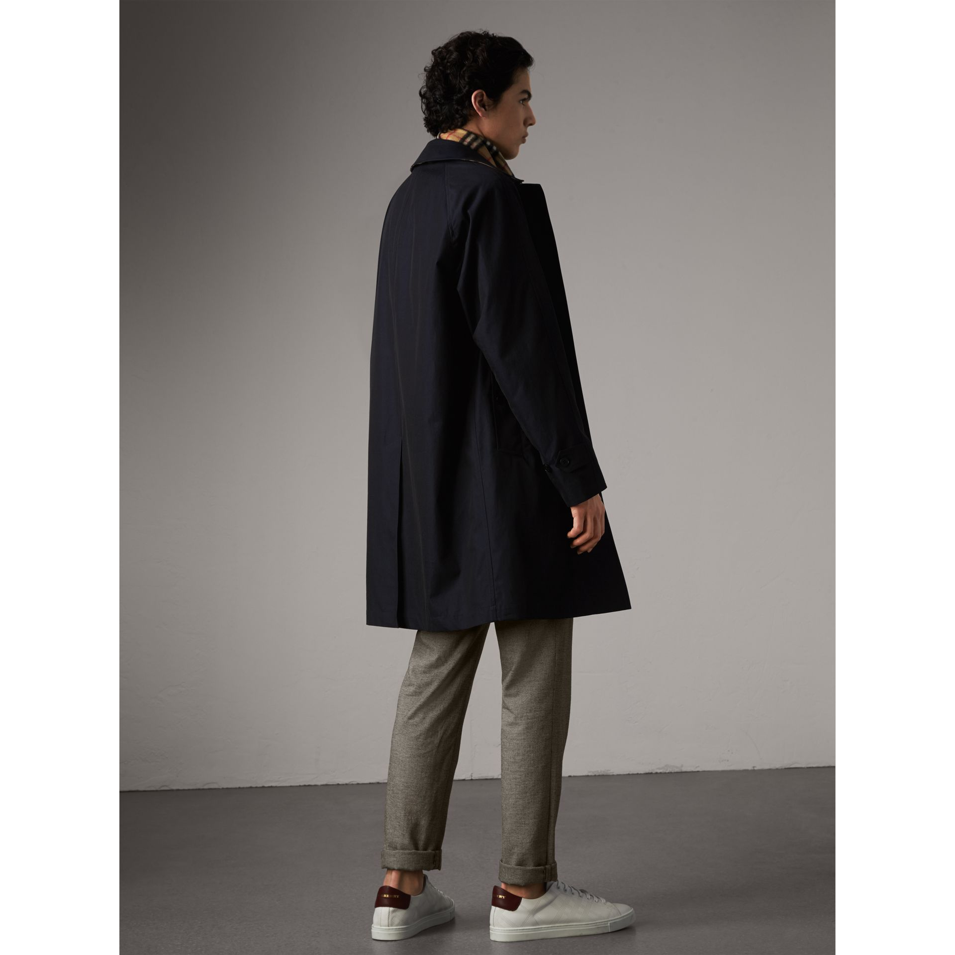 The Camden – Long Car Coat in Blue Carbon - Men | Burberry Australia - gallery image 2