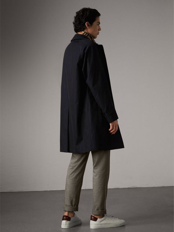 The Camden – Long Car Coat in Blue Carbon - Men | Burberry - cell image 2