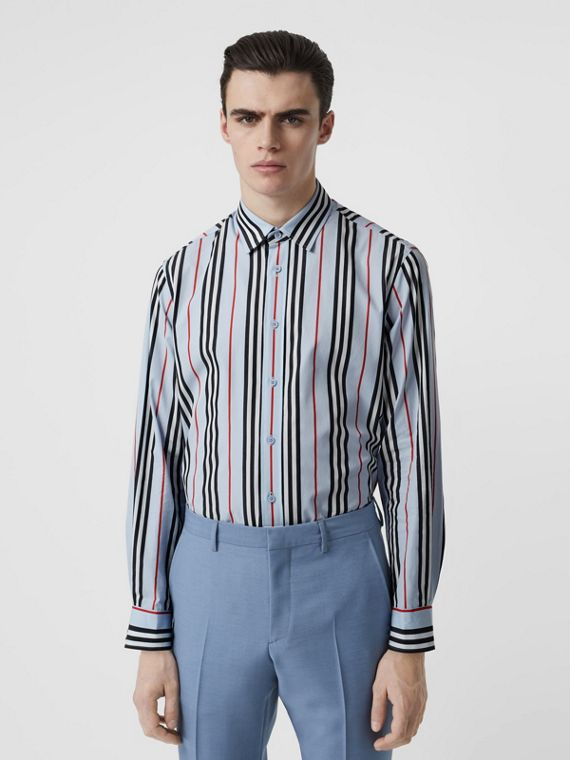 097803d4adb13 Icon Stripe Cotton Poplin Shirt in Pale Blue