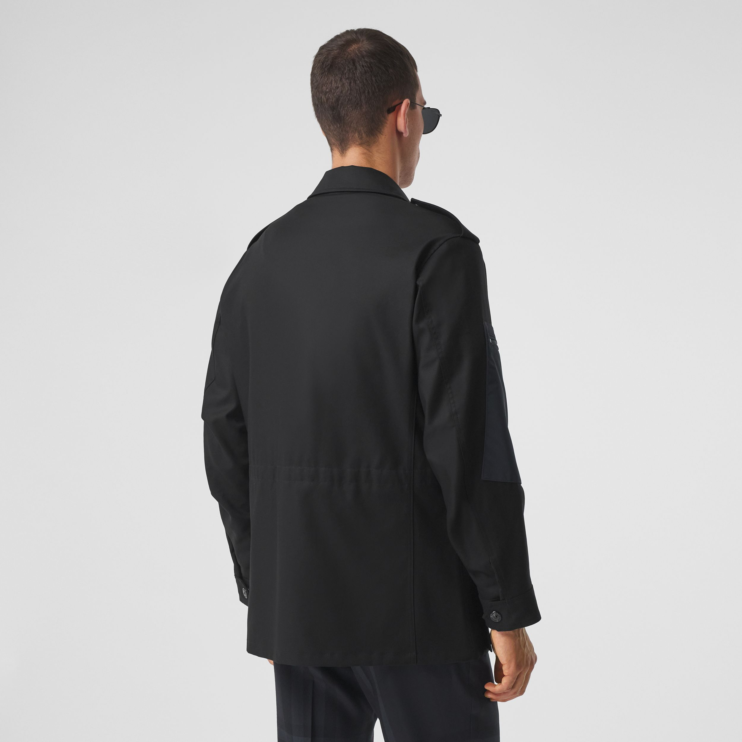 Contrast Pocket Cotton Gabardine Field Jacket in Black - Men | Burberry - 3