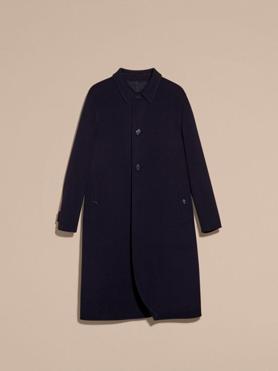 Navy Double-faced Wool Car Coat - cell image 3