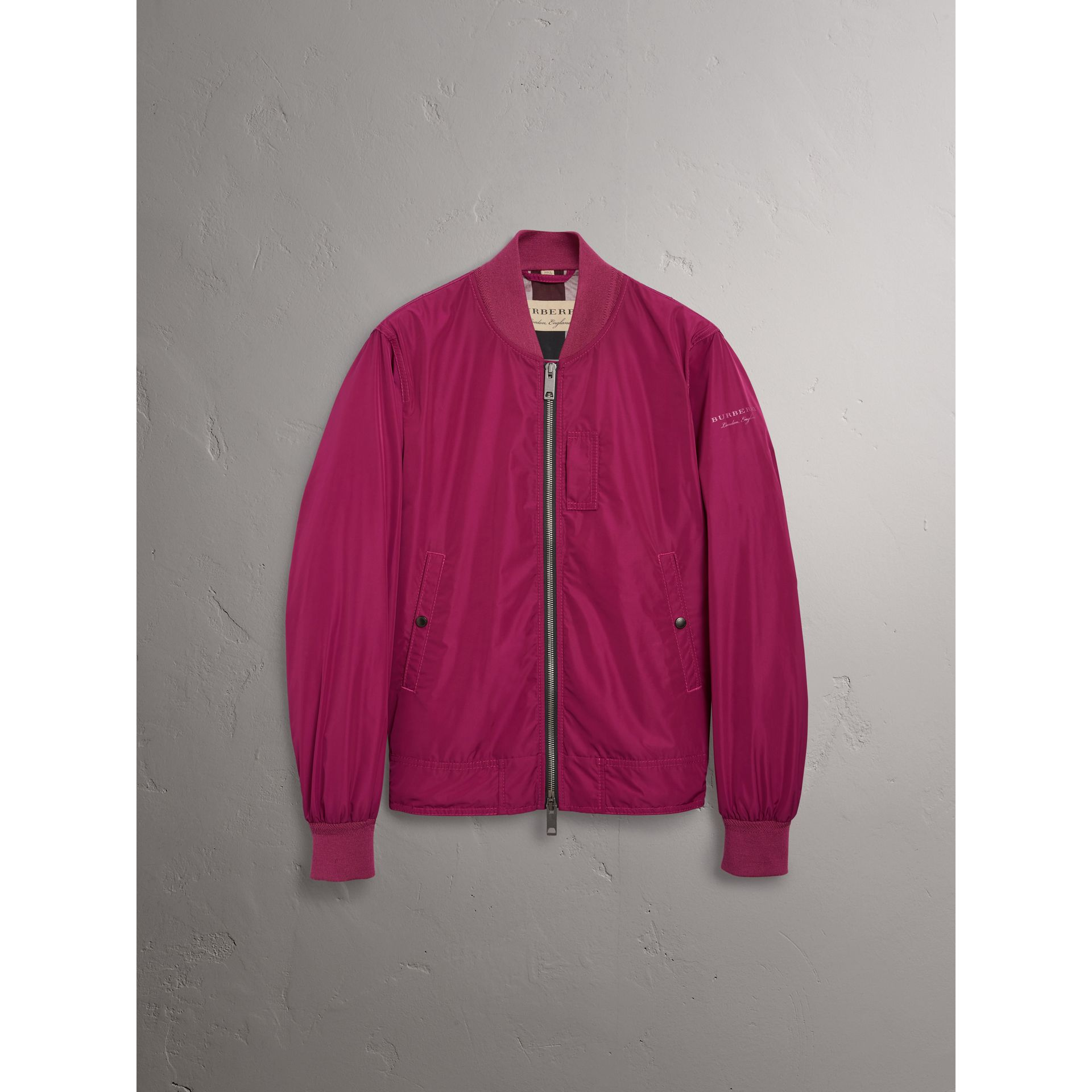 Shape-memory Taffeta Bomber Jacket in Fritillary Pink - Men | Burberry - gallery image 3