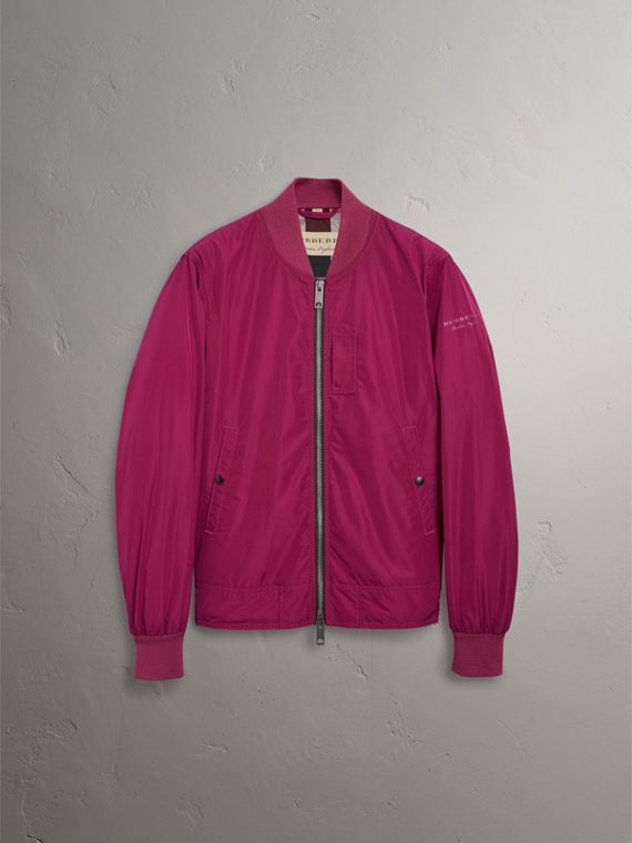 Shape-memory Taffeta Bomber Jacket in Fritillary Pink - Men | Burberry - cell image 3