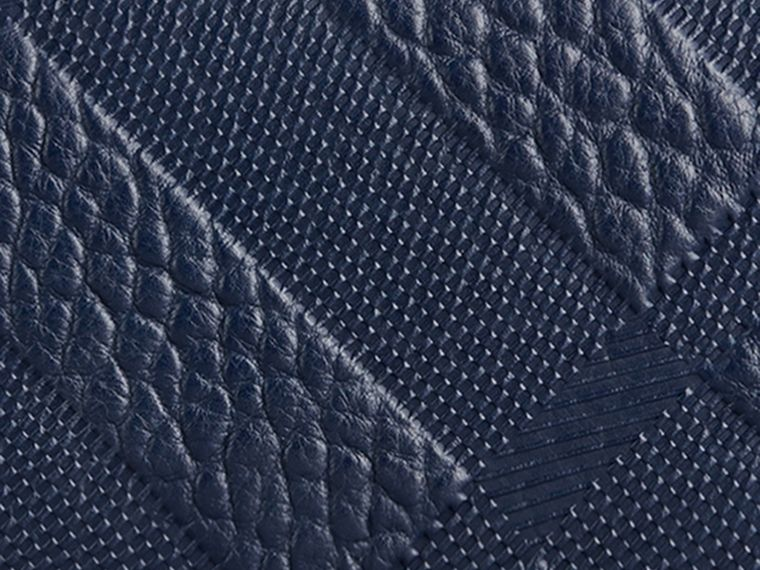 Blue carbon Embossed Check Leather Continental Wallet Blue Carbon - cell image 1