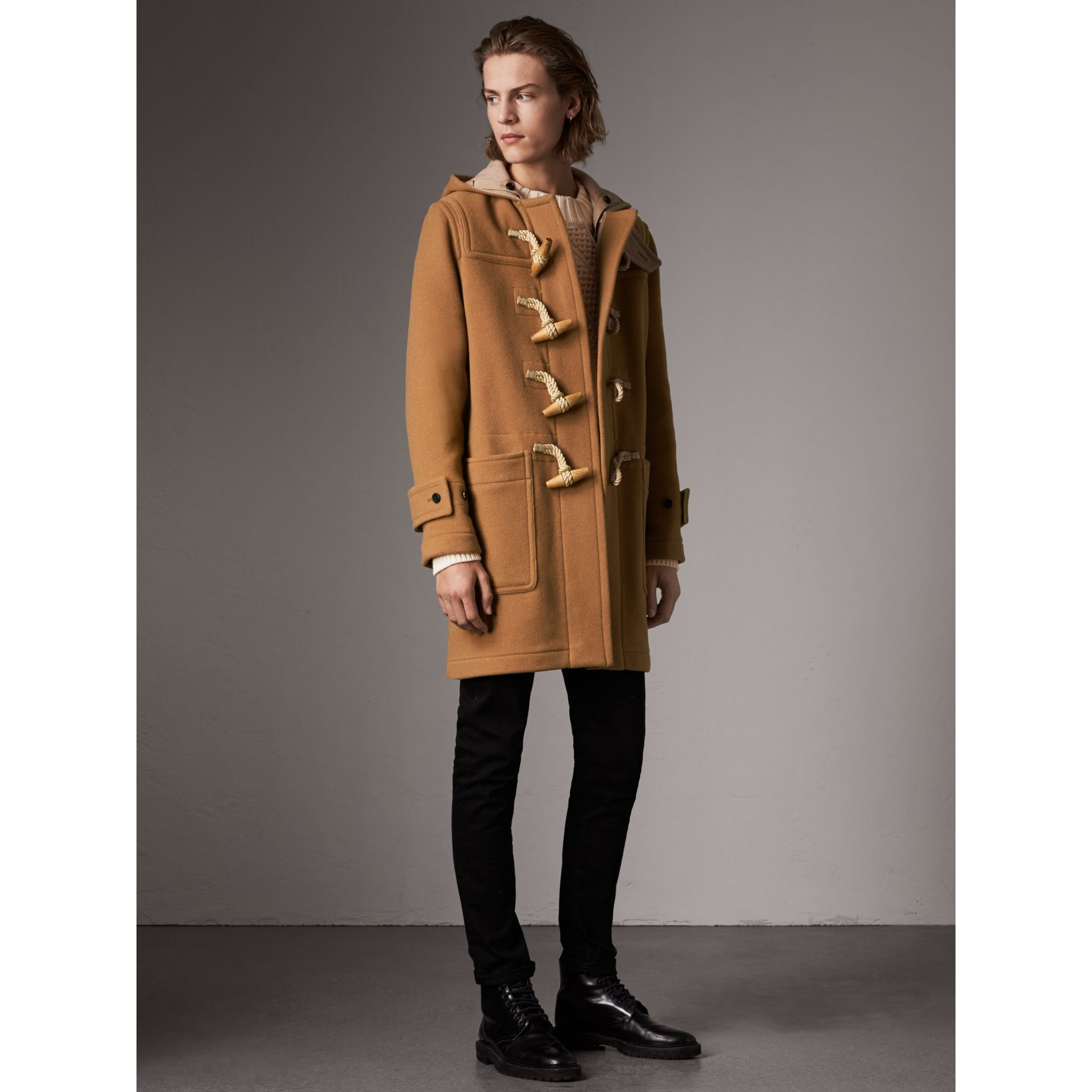 Duffle-coat The Greenwich (Camel Moyen) - Homme | Burberry - photo de la galerie 5