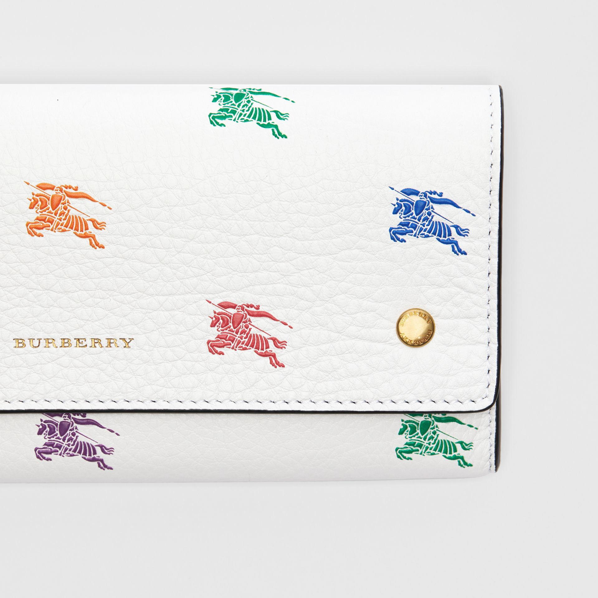EKD Leather Continental Wallet in Chalk White - Women | Burberry - gallery image 1